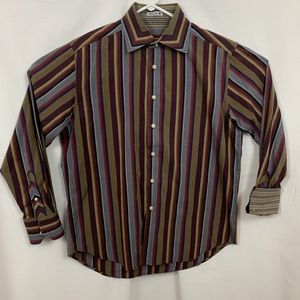 Robert Graham Stripe Flip Cuff Button Up - 0024